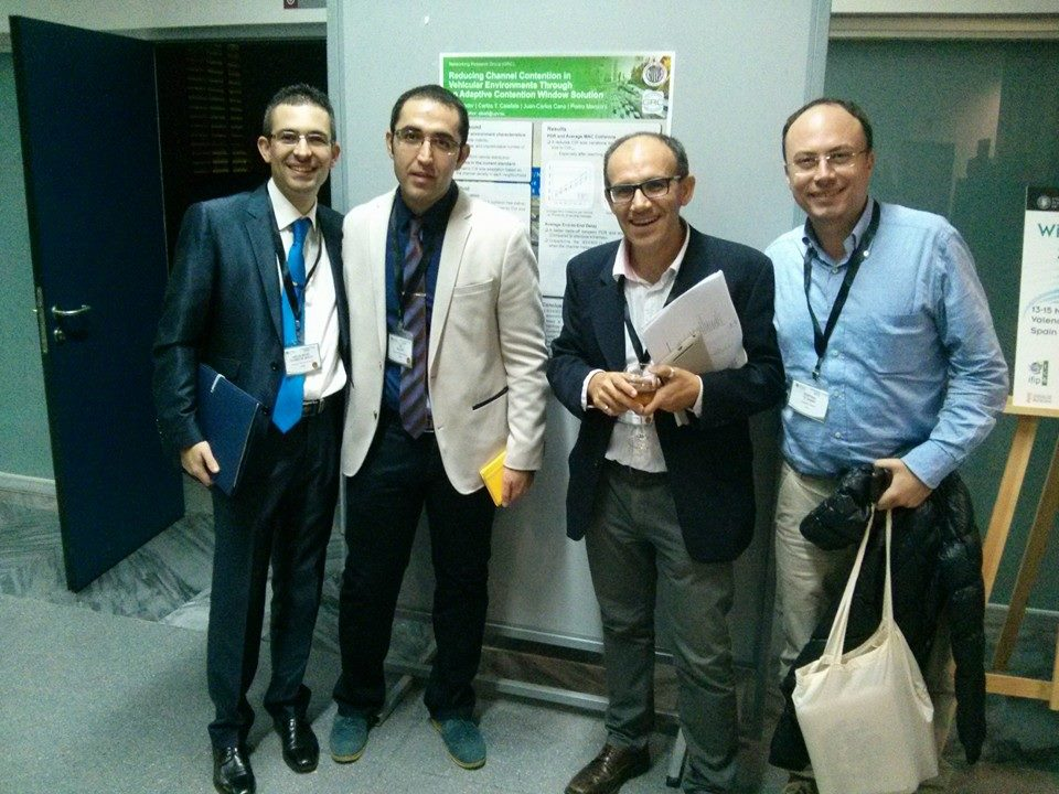With my colleagues prof. Carlos Calafate, and Floriano De Rango, and my PhD student Ali.