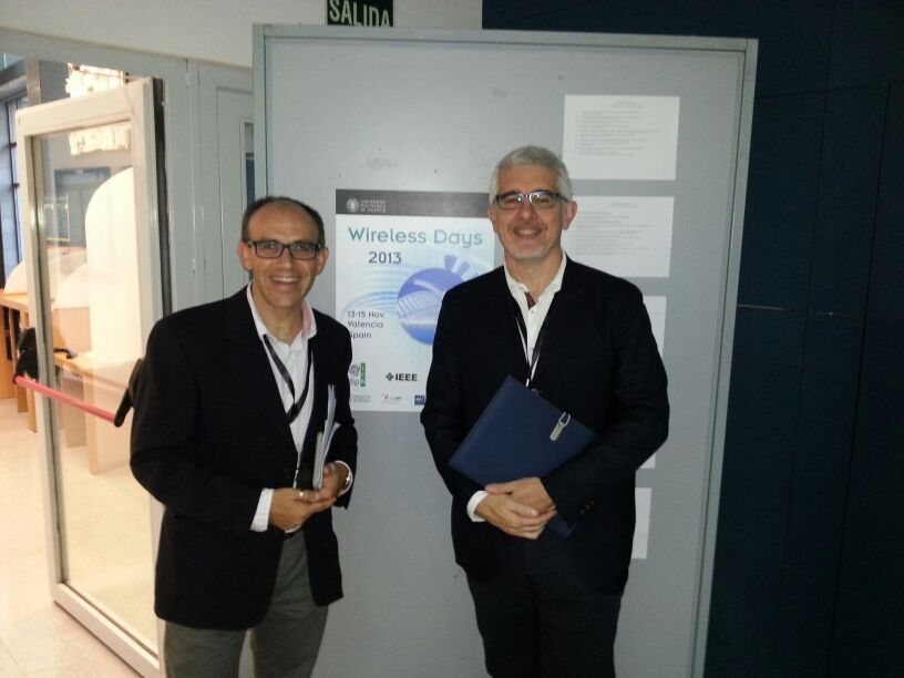 Juan Carlos Cano, General Chair, and Pietro Manzoni Keynote Session Chair.