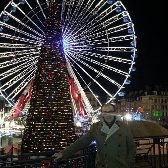 Lille @ night!. Xmas market!