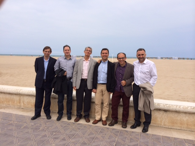 Pepe's PhD Committee and advisors!, at the Malvarrosa Beach.
