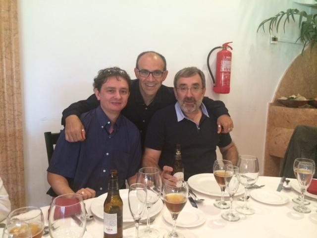 With my friend prof. Antonio Jimeno and prof. Pedro Gil!
